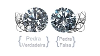 diamante verdadeiro efalso