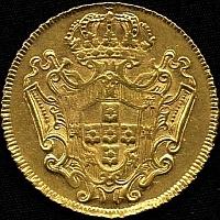 moedas em ouro