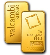 barra de ouro valcambi