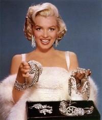 Jóias inspiradas em Marilyn Monroe