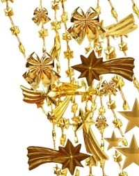 [Decoração de Natal em ouro]