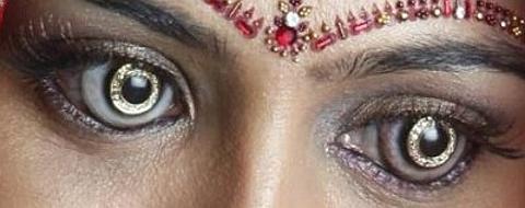 lentes de contacto em ouro
