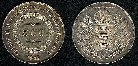 500 réis de prata 0,917,6,25 gramas