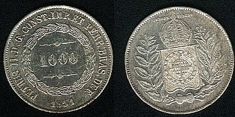 1000 réis de prata 0,917,12,50 gramas