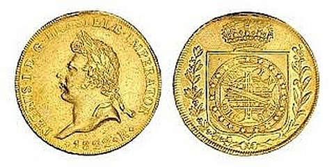 Pedro I moeda coroação