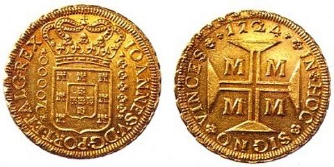 moeda em ouro