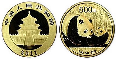 O Panda Chinês, moeda ouro