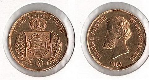 10.000 Réis, ouro 917 8.96 gramas