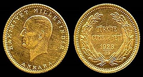Moeda de Ouro da República Turca