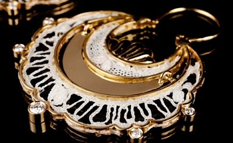 Renda de birlos em jóias
