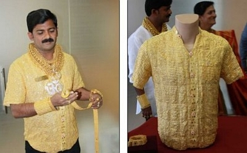 camisa de ouro