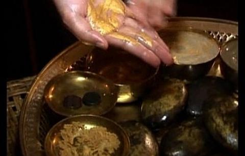 Massagem pedras de ouro