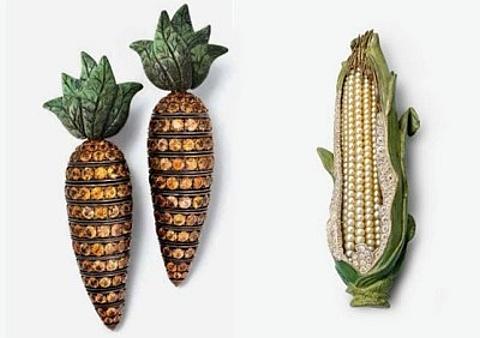 Vegetais em Jóias