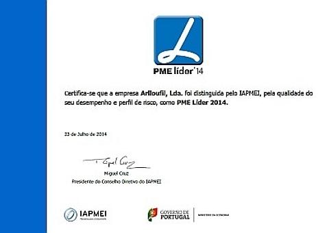 Certificado PME Líder 2014
