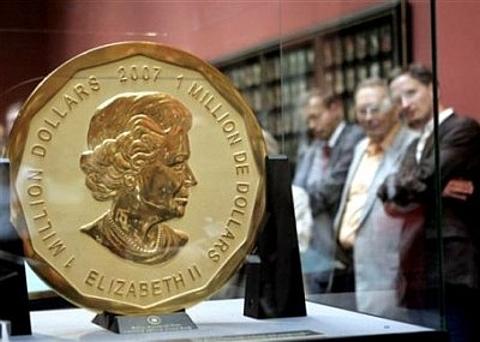 Maior moeda de ouro do mundo