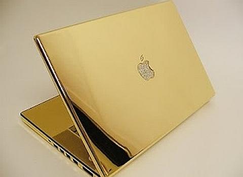 portátil em ouro