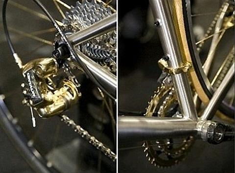 bicicletas em ouro