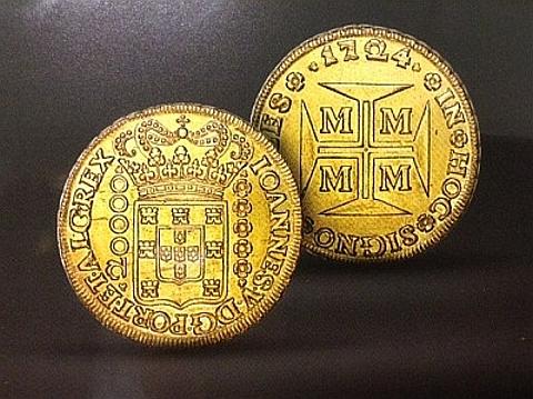 Dobrão 1724 Minas Gerais de D. João V