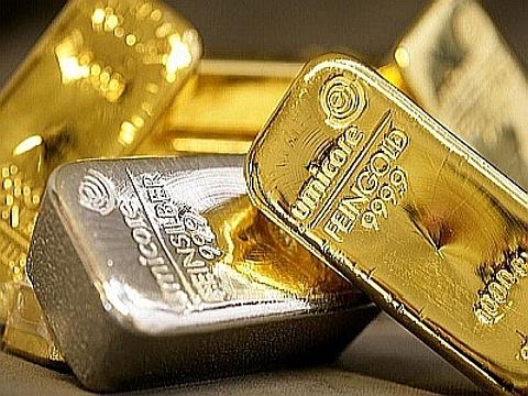 barras de ouro e paladio