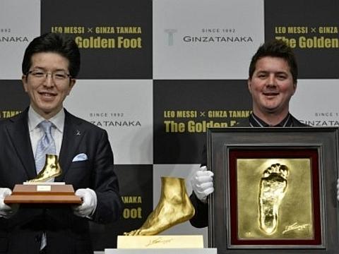 Pé em ouro de Lionel Messi