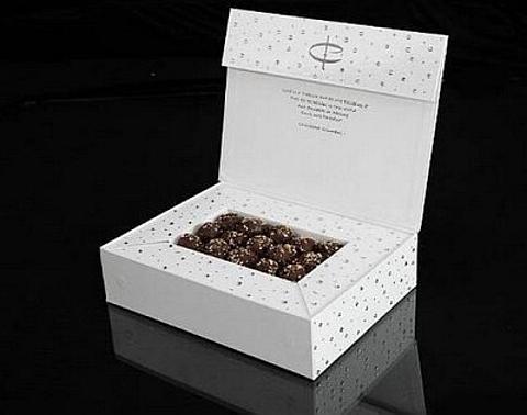 Chocolates com cristais Swarovski