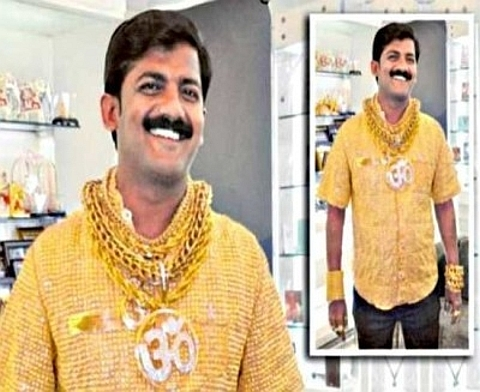 Camisa em ouro