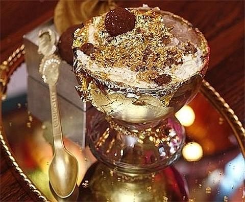 ouro em pó para comida