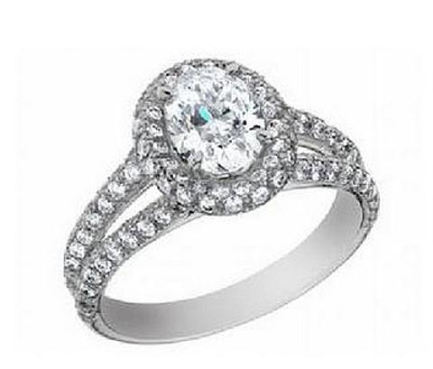 Anel Diamante Oval