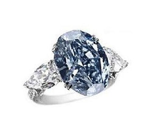 Anel Chopard Diamante azul