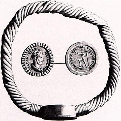 """Pulseira cunhagem de Lyon, """"Tesouro Lazaristes"""", encontrado em Lyon de 1841"""