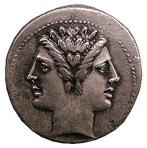 moeda romana em prata