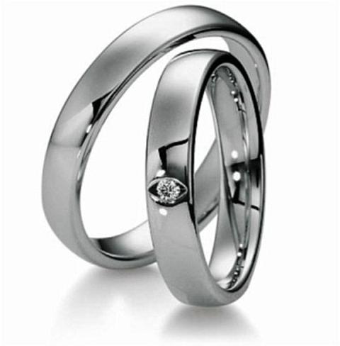 anéis platina