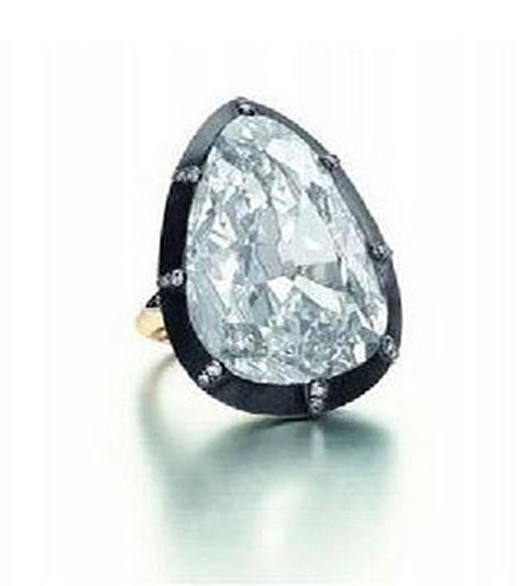 Anel Golconda Diamante Gota