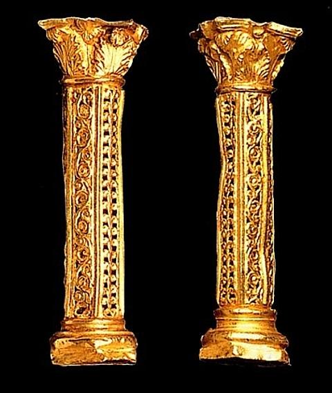 barras cilíndricas ou poligonal pilastrini.