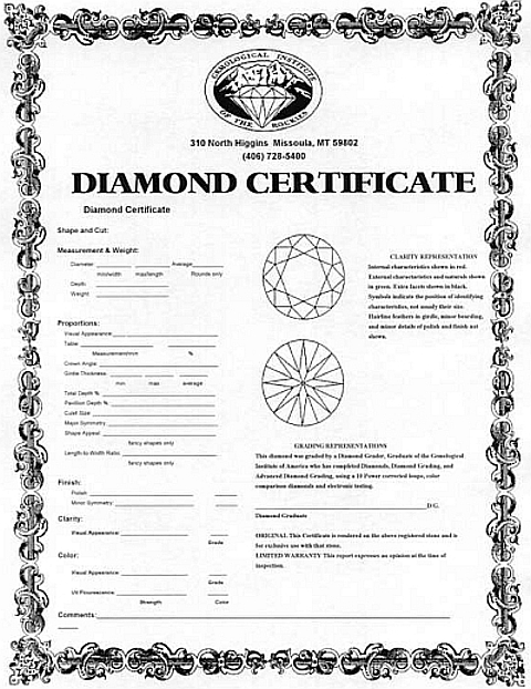 Certificado de Diamante