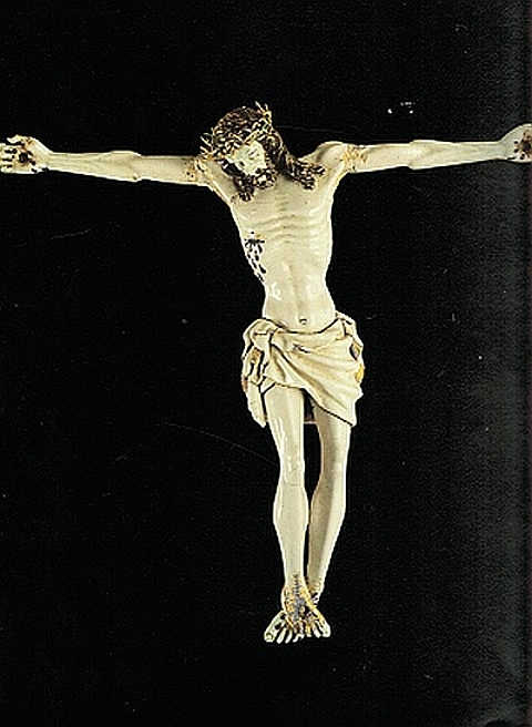 Cristo em ouro esmaltado