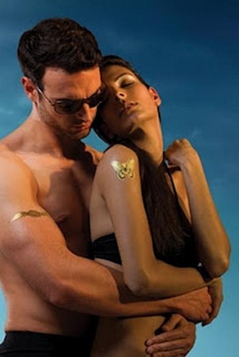 tatuagens em ouro