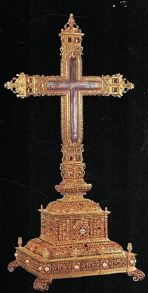 Cruz em prata e ouro