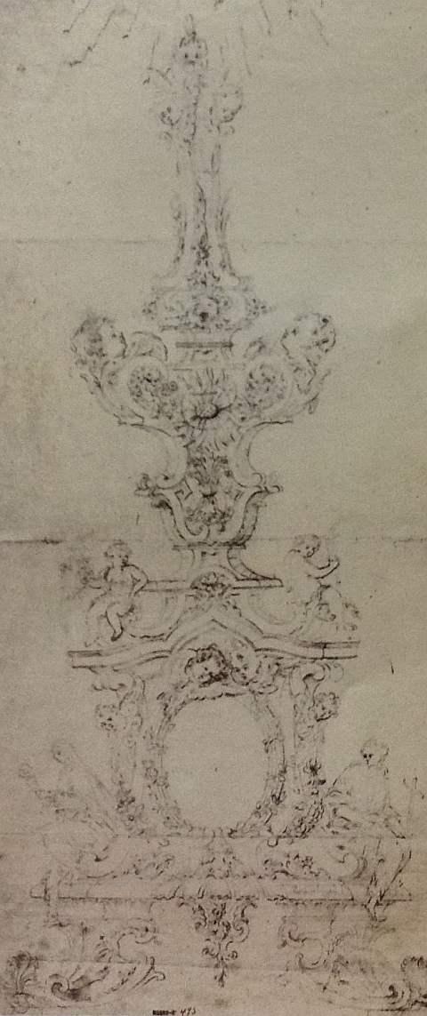 Desenho preparat´rio para a custódia do Paço da Bemposta