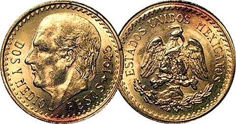 dois pesos e meio em ouro