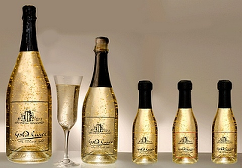 Gold infused Champagne