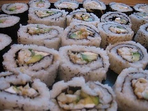 Sushi com Folhas de Ouro
