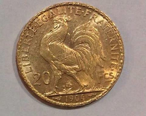 francos em ouro