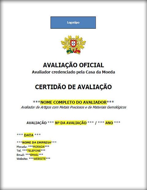 Avaliação Oficial