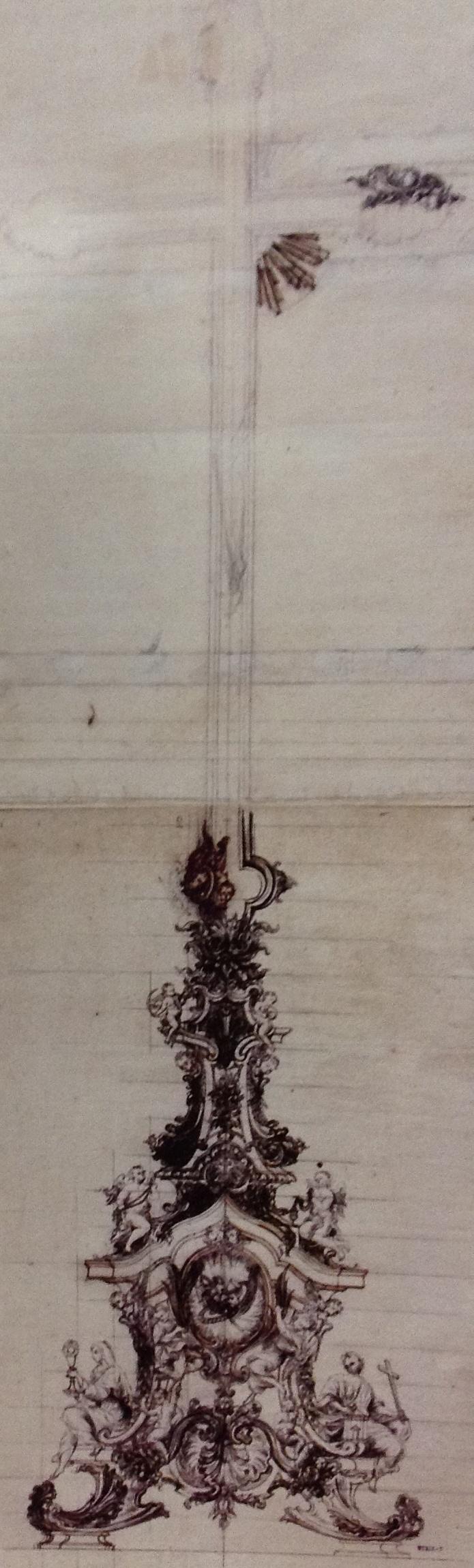 Desenho preparativo para cruxifixo