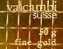 Tablete em ouro de Valcambi